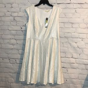 NWT Gianni Bini Silver Oceana Full Blossom Dress